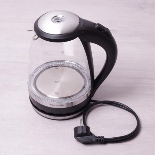 Электрический чайник с синей LED подсветкой 1,5 л. Kamille 1701B