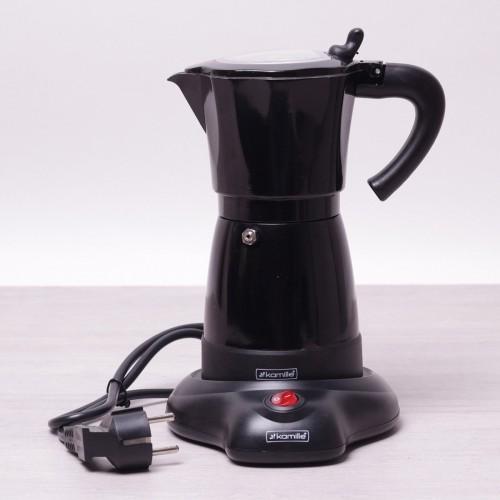 Кофеварка электрическая гейзерная Kamille 2600A 300мл из алюминия