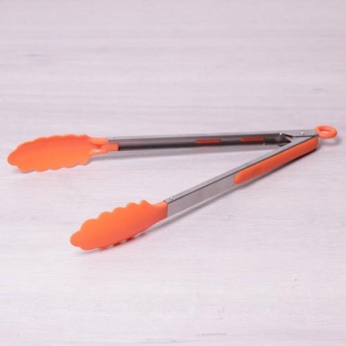 Щипцы нейлоновые 30.5см Kamille (7515) с ручками из нержавеющей стали