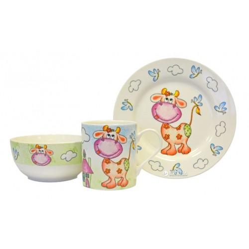 Детский набор посуды Коровка KERAMIA 21-272-042