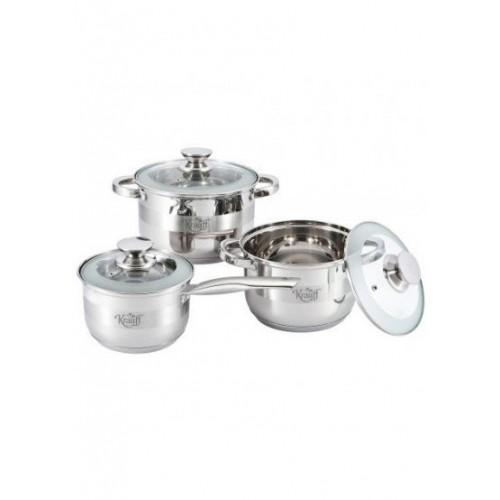 Набор посуды из нержавеющей стали 6 предметов Krauff 26-238-023