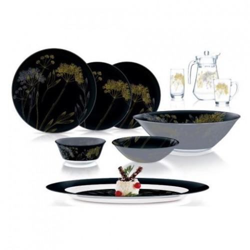 Столовый сервиз 46 предметов Luminarc Black Field Flower Q1060
