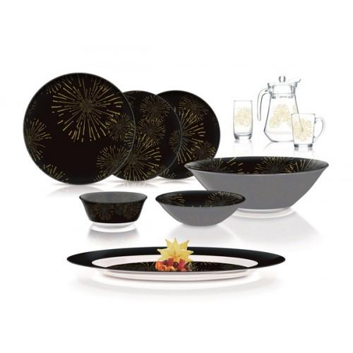 Сервиз столовый 46 пр. Luminar Black Night Flower Cold Q1062