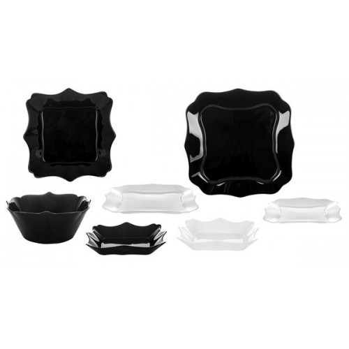 Сервиз столовый LUMINARC AUTHENTIC BLACK&WHITE, 19 предметов E6195