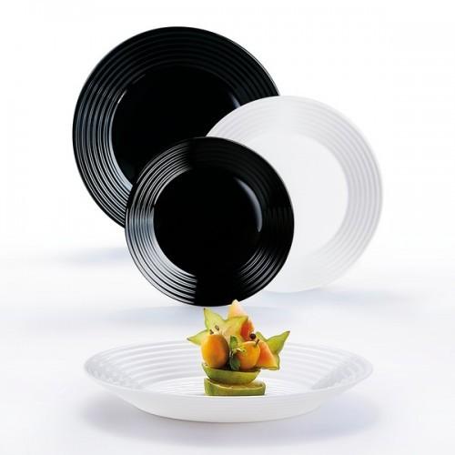 Сервиз столовый LUMINARC HARENA BLACK&WHITE, 18 предметов N1518