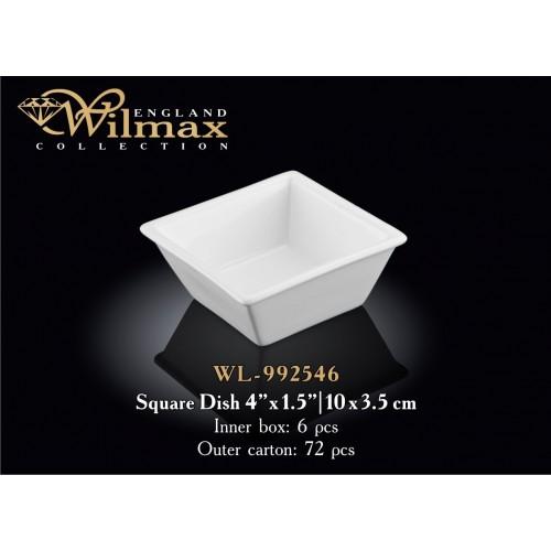 Емкость для закусок Wilmax 10×3.5 см WL-992546