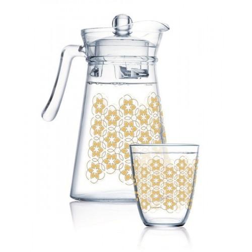 Набор для напитков 7 предметов Luminarc Neo Golden Flower Maze Q0569