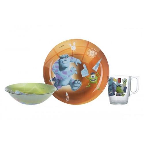 Набор детский Luminarc Disney Monsters, 3 предмета
