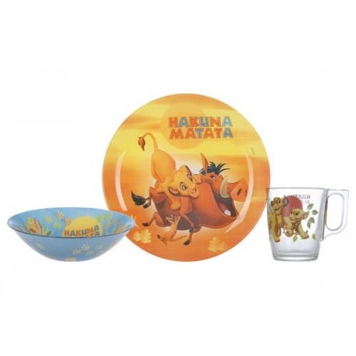 Набор детский Luminarc Disney Lion King, 3 предмета