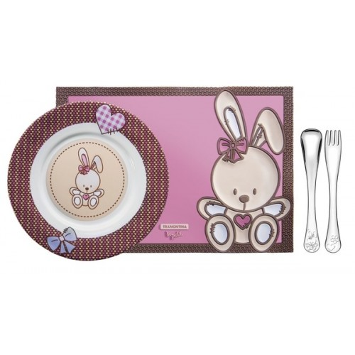 Набор детский Tramontina BABY Le Petit Pink, 4 предмета
