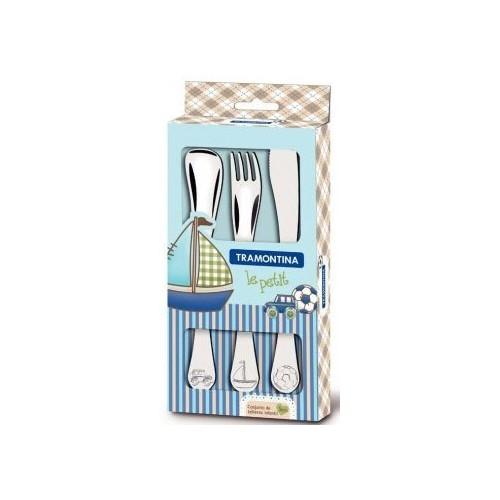 Детский набор столовых приборов Tramontina BABY Le Petit blue, 3 предмета 66973/000
