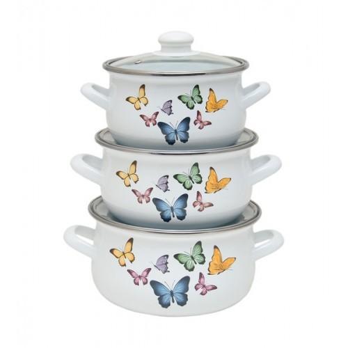 Набор кастрюль INFINITY Butterflies (6 предметов)