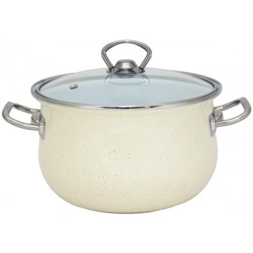 Кастрюля INFINITY Cream (5 л) 22 см