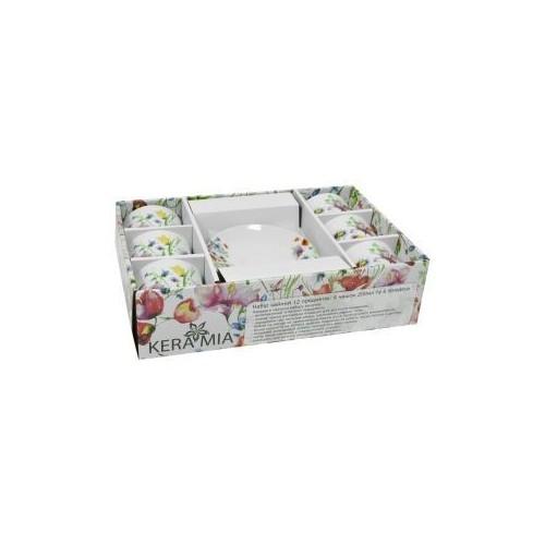 Набор чайный Полевые цветы 12 предметов KERAMIA K24-198-079