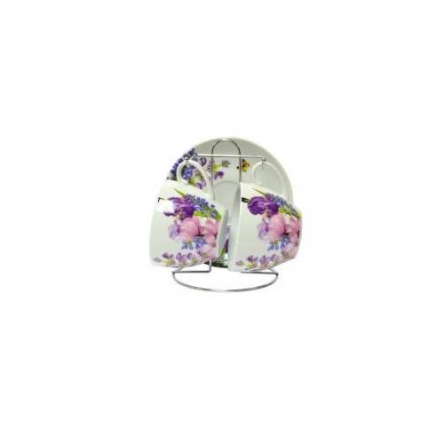 Набор чайный Пурпурные цветы 5 предметов KERAMIA.K24-198-005