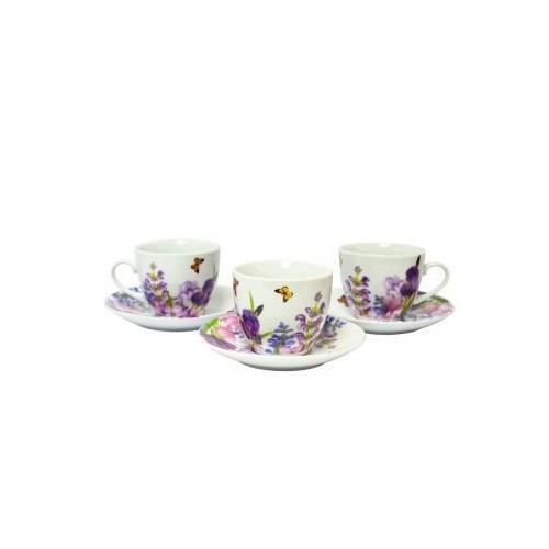 Набор чайный Пурпурные цветы 12 предметов KERAMIA.K24-198-003
