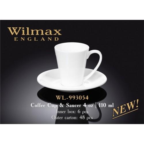 Чашка с блюдцем для кофе Wilmax 993054