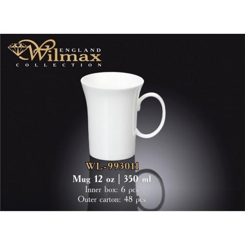 Кружка фарфоровая Wilmax 350 мл (спайка 6 шт.) WL-993011