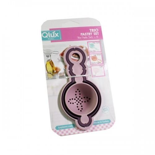Набор кондитерских ложек Qlux MIX, 3 шт.