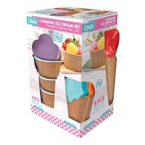 Набор для мороженого Qlux MIX, 9 предметов