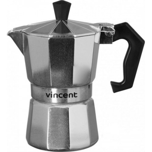 Кофеварка гейзерная алюминий 3 чашки Vincent VC-1365-300