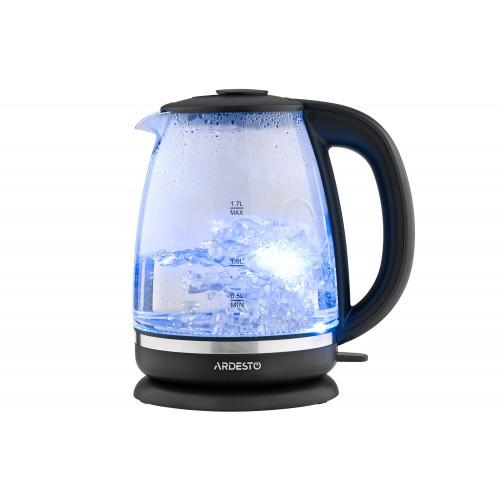 Электрический чайник 1.7 литра стеклянный с LED-подсветкой Ardesto EKL-F100 (2150 Вт)