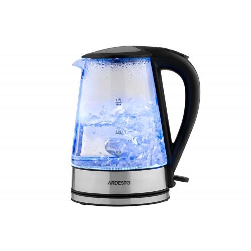 Электрический чайник 1.7 литра стеклянный с LED-подсветкой Ardesto EKL-F110 (2150 Вт)