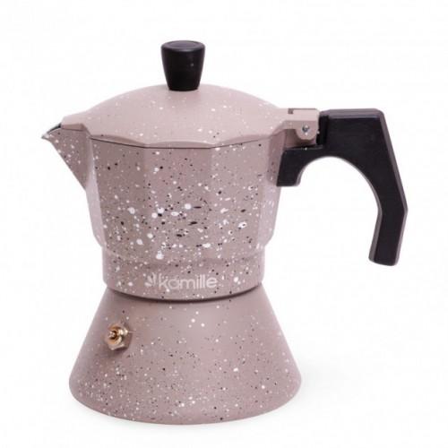 Кофеварка гейзерная c индукционным дном 150 мл Kamille KM-2516
