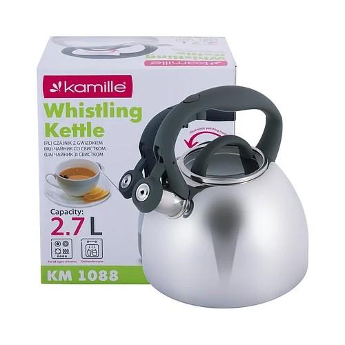 Чайник Kamille 2.7л  со свистком KM-1088