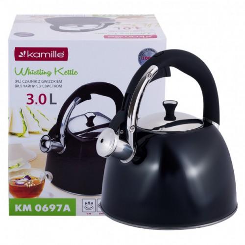 Чайник 3 л со свистком Kamille KM-0697A