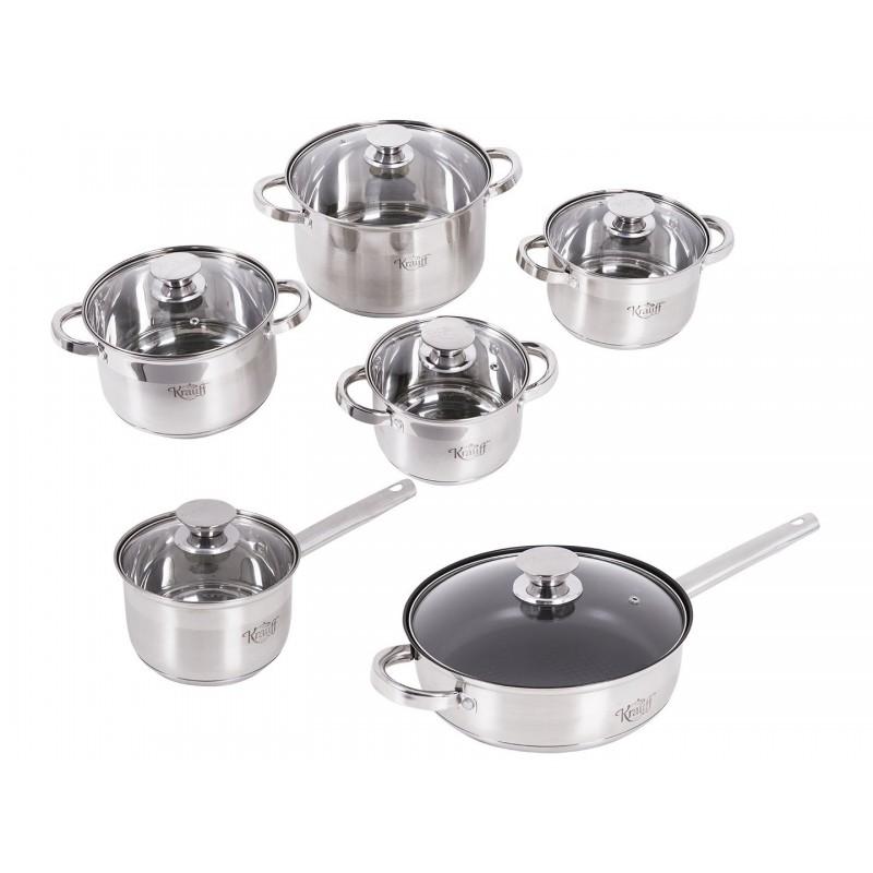 Набор посуды из нержавеющей стали 12 пр. Krauff Stein 88-222-006
