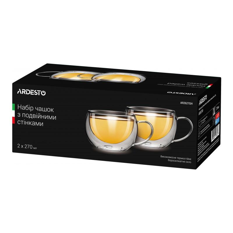 Набор чашек с двойными стенками 2 шт. 270 мл Ardesto AR2627GH