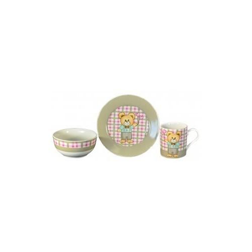 Набор детской посуды Медвежонок мальчик 3 предмета KERAMIA.21-272-015