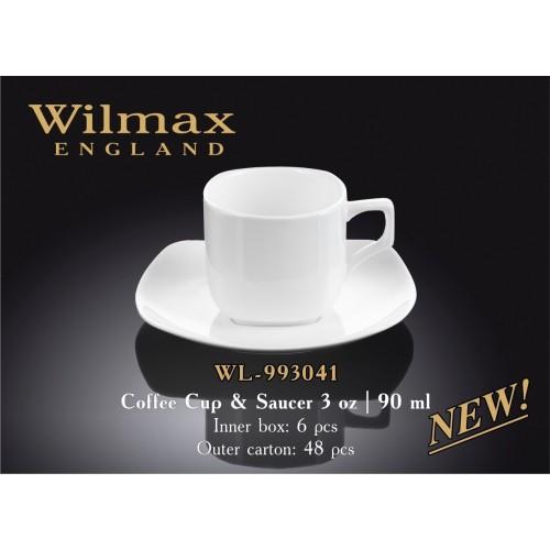 Чашка с блюдцем для кофе Wilmax 993041