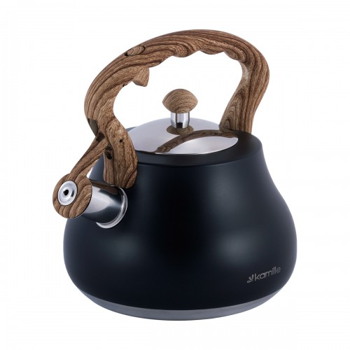 Чайник Kamille Черный 2,7л из нержавеющей стали KM-1092