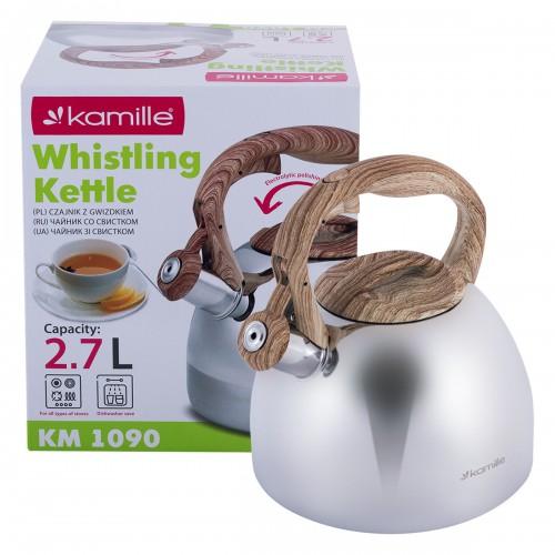 Чайник Kamille 2.7л из нержавеющей стали KM-1090