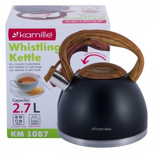Чайник Kamille 2,7л из нержавеющей стали KM-1087
