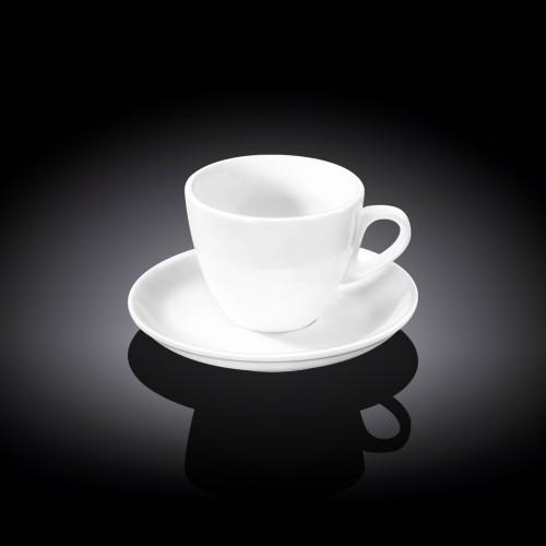 Чашка кофейная с блюдцем 110 мл. Wilmax WL-993174