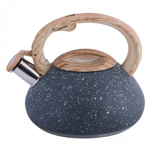 Чайник Kamille Темно-Серый 2.5л из нержавеющей стали KM-0680