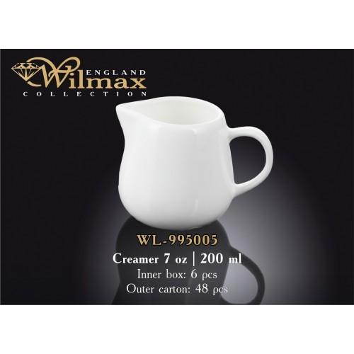 Молочник фарфоровый Wilmax 200 мл WL-995005
