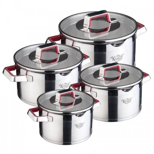 Набор посуды из нержавеющей стали 8 пр Krauff Rose 88-222-015