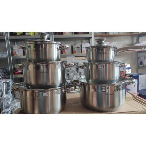 Набор посуды Ofenbach 12 предметов из нержавеющей стали 100001