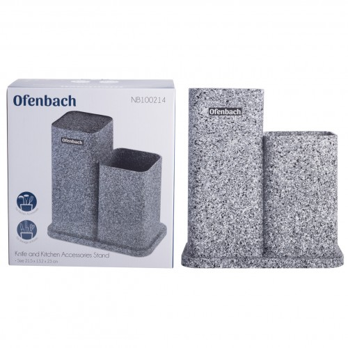Подставка для ножей и кухонных принадлежностей Ofenbach двойная 23см NB-100214
