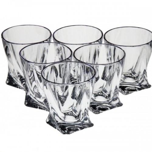 Стаканы для виски Quadro 340мл-6шт Bohemia 159138