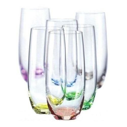 Набор стаканов Bohemia Rainbow 350мл 6шт 172168