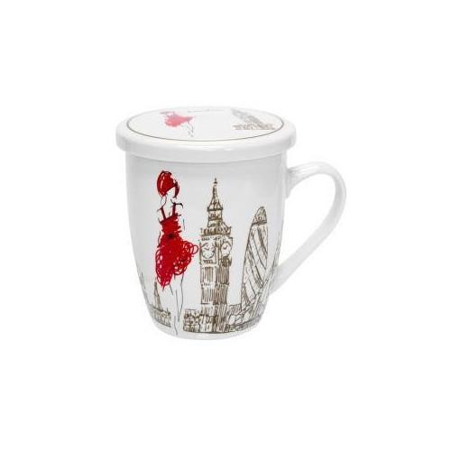 """Чашка заварочная 360 мл """"Девушка в Лондоне"""" KERAMIA 21-279-005"""